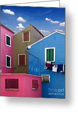 Burano 10 Greeting Card by Giorgio Darrigo
