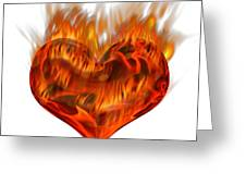 Burning Love  Brennende Liebe Greeting Card