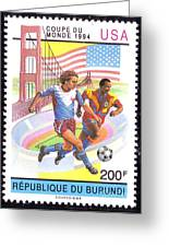 Burundi Stamp Greeting Card