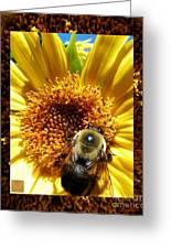 1 Busy Bumble L Greeting Card