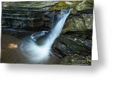 Buttermilk Falls Gorge Trail Greeting Card by John Naegely