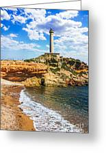 Cabo De Palos Lighthouse On La Manga In Spain. Greeting Card