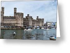 Caernarfon Castle Panorama Greeting Card