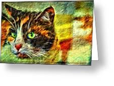 Calico Kitty Greeting Card