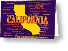 California State Pride Map Silhouette  Greeting Card