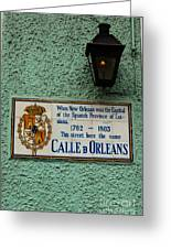 Calle Orleans Greeting Card