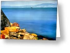 Calm In Balaton Lake Greeting Card