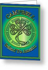 Campbell Ireland To America Greeting Card