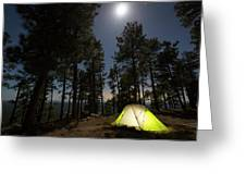 Camping On The Rim Greeting Card