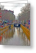 Canal Of Delft Greeting Card