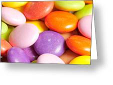 Candy Background Greeting Card