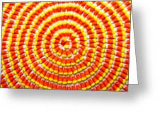 Candy Corn In Circles Greeting Card