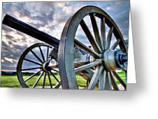 Cannon Over Gettysburg Greeting Card by Andres Leon