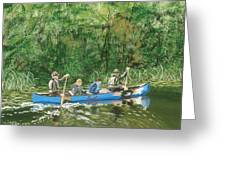 Canoeing With Grandpa Greeting Card
