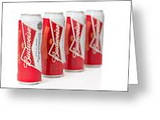 Cans Of Budweiser Beer Greeting Card