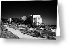Cap De Salou Waterfront Properties On The Costa Dorada Catalonia Spain Greeting Card
