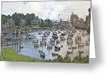 Cape Cod Americana Wychmere Harbor Greeting Card