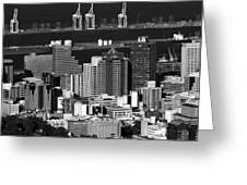 Cape Town Skyline - South Africa Greeting Card
