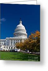Capitol Building Autumn Foliage  Greeting Card