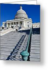 Capitol Hill Building In Washington Dc Greeting Card