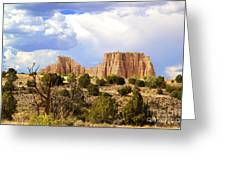 Capitol Reef National Park. Catherdal Valley Greeting Card