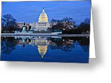 Capitol Reflecting Pool Greeting Card