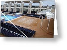 Caribbean Cruise - On Board Ship - 12129 Greeting Card