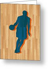 Carmelo Anthony New York Knicks Greeting Card by Joe Hamilton