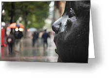 Carmen Awake Street Sculpture Greeting Card