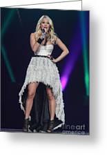 Singer Carrie Underwood Greeting Card