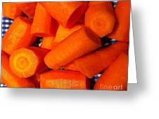 Carrots Ready To Cook Greeting Card