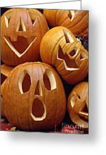Carved Pumpkins Greeting Card