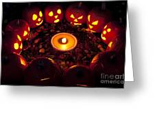 Pumpkin Seance With Pumpkin Pie Greeting Card