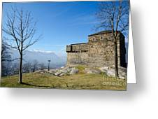 Castle And Trees Greeting Card