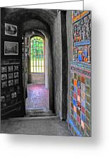 Castle Passageway Greeting Card
