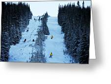 Cat Skiing At Fortress Mountain Greeting Card