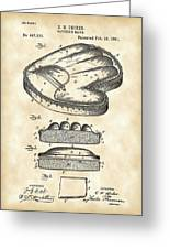 Catcher's Glove Patent 1891 - Vintage Greeting Card
