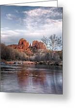 Cathedral Rocks Sunset Greeting Card