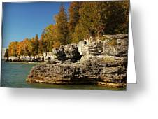 Cave Point County Park Door County Wisconsin Greeting Card