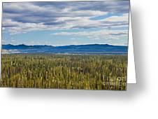 Central Yukon T Canada Taiga And Ogilvie Mountains Greeting Card
