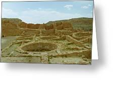 Chaco Canyon Ruins Greeting Card
