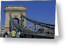 Chain Bridge Budapest Greeting Card