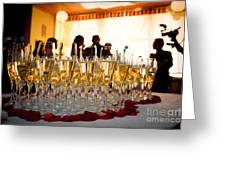 Champagne Glasses At The Party Greeting Card