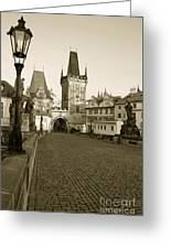 Charles Bridge In Prague Greeting Card