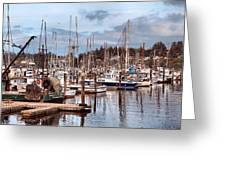 Charleston Marina Fishing Boats Greeting Card