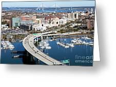 Charleston Waterfront And Marina South Carolina Greeting Card