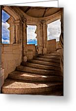 Chateau De Blois Staircase / Loire Valley Greeting Card