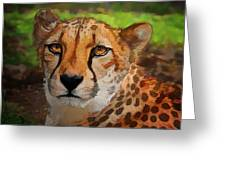 Cheetah Mama Greeting Card
