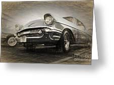Chevrolet Belair 1957 Greeting Card