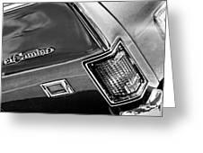 Chevrolet El Camino Taillight Emblem Greeting Card